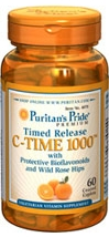 VITAMIN C-1000 mg. with ROSE HIPS Time Release ขนาด 60 เม็ด