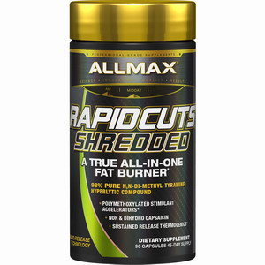 ALLMAX Nutrition, Rapidcuts Shredded, Fat Burn ขนาด 90 เม็ด